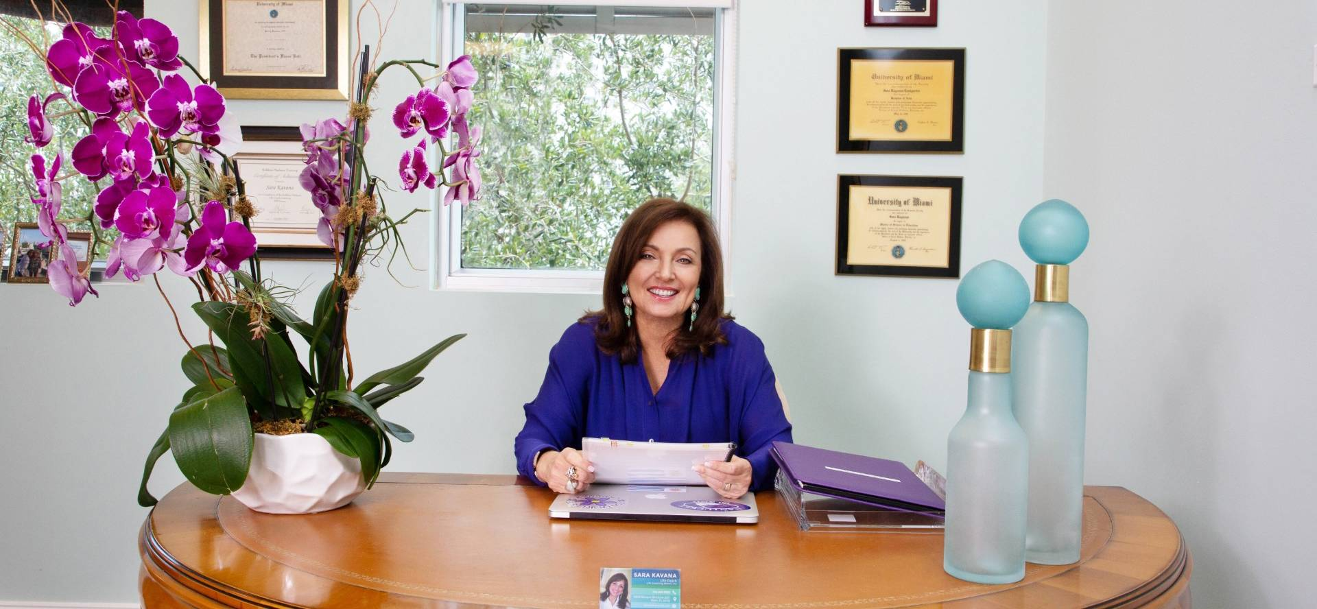 Sara Kavana at the life coaching office