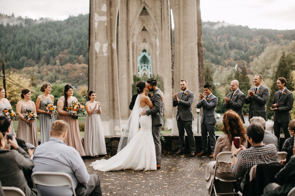 Cathedral Park Wedding  Melissa  Ryan  Portland Wedding Photographer  Sara K Byrne