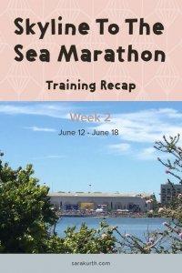 Skyline to the sea marathon training recap week 2