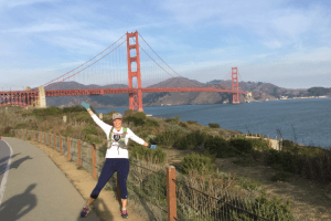 Sara Kurth and the Golden Gate Bridge