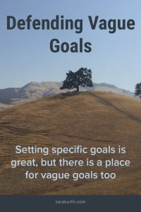 Setting Vague Goals