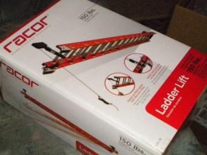 Ladder lift box side