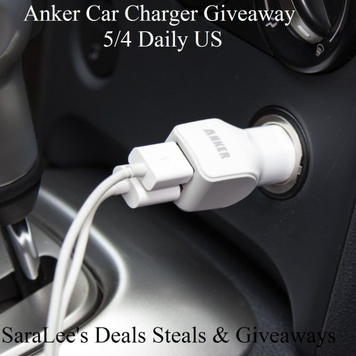 Anker car charger giveaway