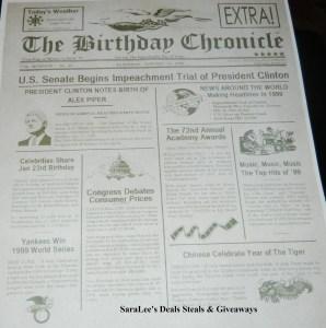 Birthday Chronicle