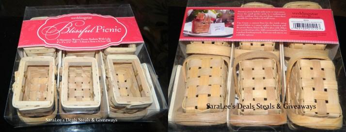 Mini Woven Picnic Baskets