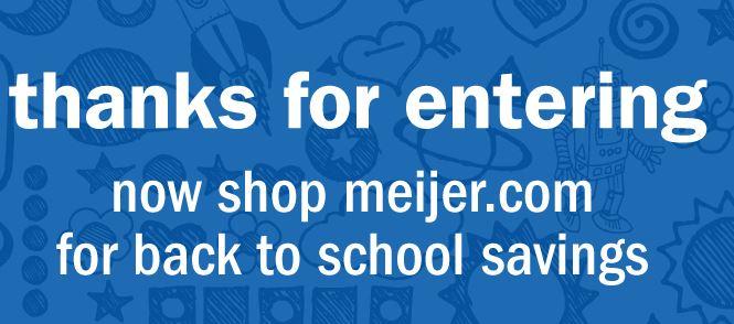 Meijer's Back-to-School Photo Sweepstakes