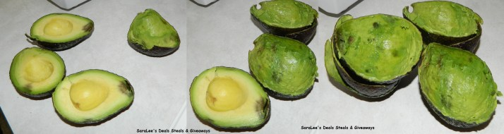 Avocado before & after