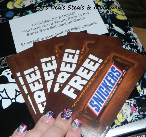 Snickers coupon win