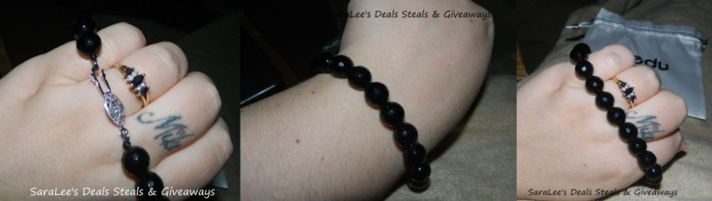 Faceted Onyx Bracelet (2/4)