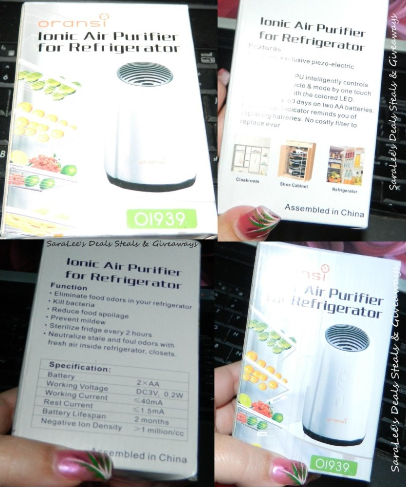 Oransi Ionic Fridge Air Purifier (2/4)