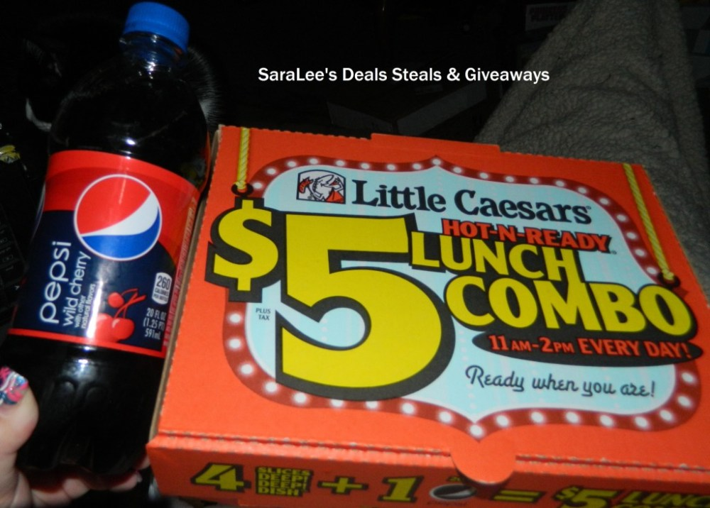Little Caesars $5 HOT-N-READY Lunch Combo (1/4)