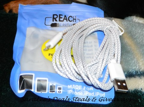 10 Foot Long iPhone iPad Charging Cord