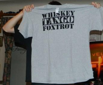 AW Fashion's Whiskey Tango Foxtrot - Military WTF Humor Men's T-Shirt