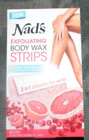 Nad's Exfoliating Body Wax Strips 20ct