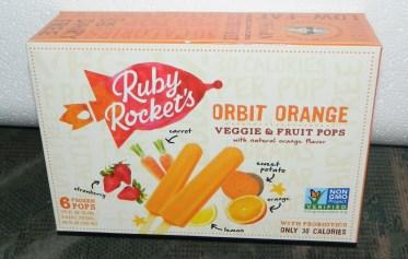 Ruby Rockets Orbit Orange Veggie and Fruit Pops