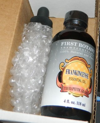 Frankincense Essential Oil With A Glass Dropper