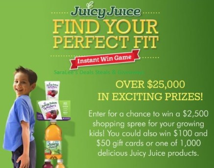 Juicy Juice - Find Your Perfect Fit Sweepstakes & IWG