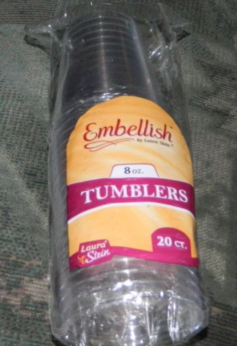 Embellish Crystal Clear Hard Plastic 8oz Party Tumblers/Cups 20 Count