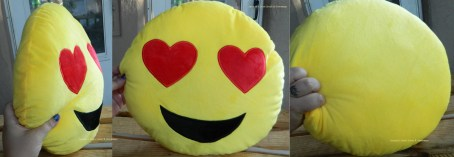 Emoji Pillow Heart Eyes Smiley Face