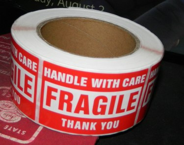 Fragile Stickers - Handle with Care Shipping Label