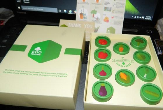 EcoFarms Organic Vegetable Seed Gift Box