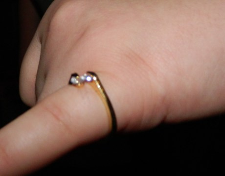 Gold Colored Crystal Ring