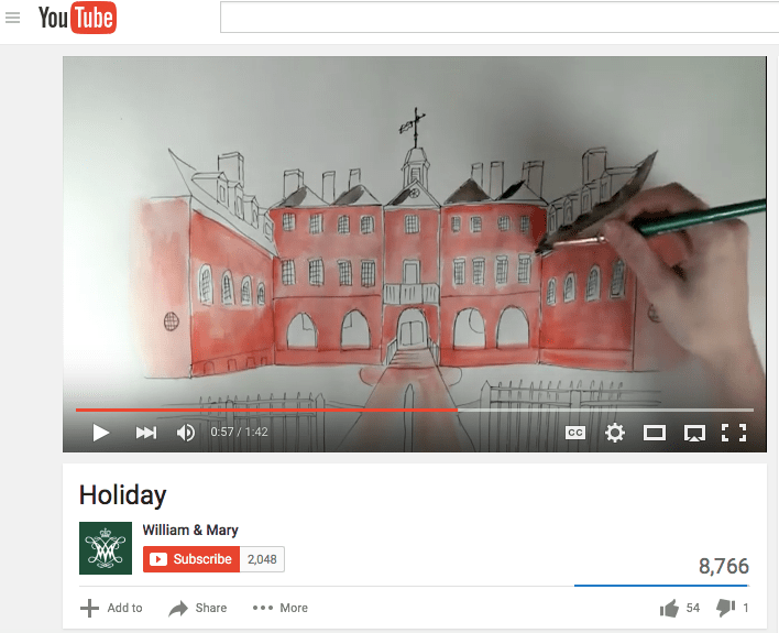W&M YouTube screen shot