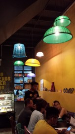 Trendy cafe in Penang, where they made lampshades out of baskets you put over your food to keep the flies away.