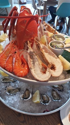 The full monte seafood platter at Coogie Beach.