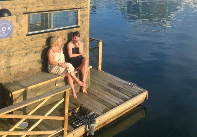 På Kok Oslo etter intervjuet. Det tok vi oss tid til!