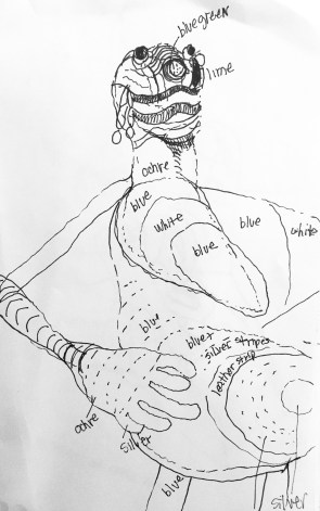 african-beaded-figure-study