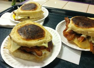 Portugese Muffin Breakfast Sandwiches