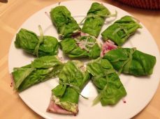Seared Tuna wrapped in Boston lettuce