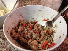 Sardine topping for the bruschetta