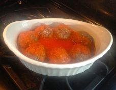 Meatballs baked in Red Sauce