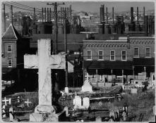 Walker-Evans-Bethelem-Graveyard-and-Steelmill-Pennsylvania-1935