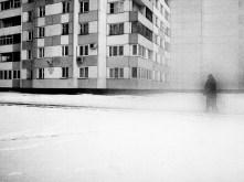 RUSSIA. St Petersburg. 2007. Man walking in the street.