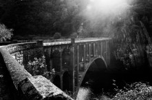 "Galicia, Spain 2006. The bridge where ""el comandante moreno"" crossed while he was running away from the franquists."