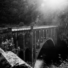 """Galicia, Spain 2006. The bridge where """"el comandante moreno"""" crossed while he was running away from the franquists."""