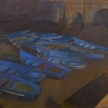13. Vito Tongiani, Controllo degli ormeggi nel porto di Mogador, Olio su tela, 2015