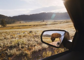 "©Rebecca Norris Webb, ""Rearview Mirror,"" from My Dakota"