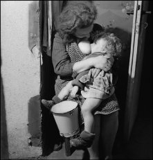 GERMANY. Bonn. A mother breastfeeding her child as long as possible, to save him from malnutrition. 1946.
