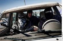 Libyan rebels on the outskirts of Ajdabya eastern Libya, Sunday, March 20, 2011.
