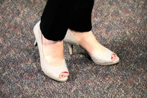 My sparkly show shoes.