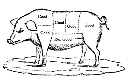 pig cut diagram
