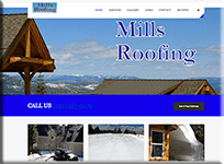 Mills Roofing Contractor - WordPress Websites and Training - Sara Ohara
