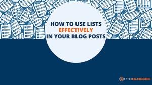 How to use lists - WordPress Websites and Training - Sara Ohara