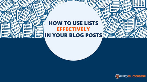 How to use lists - Wordpress Websites and Training - Sara Ohara