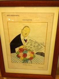 Yine Rusya günlerinde bir dergide yayınlanan Nabokov karikatürü.