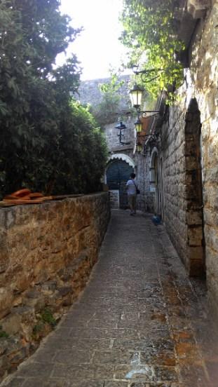 Budva, Stari Grad sokakları.